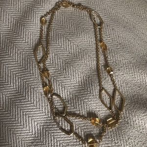 Alexis Bittar Amber Chain Link Necklace